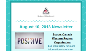 Bi-Weekly Council Newsletter - Aug 10, 2018