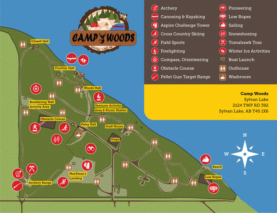 Camp Woods Map